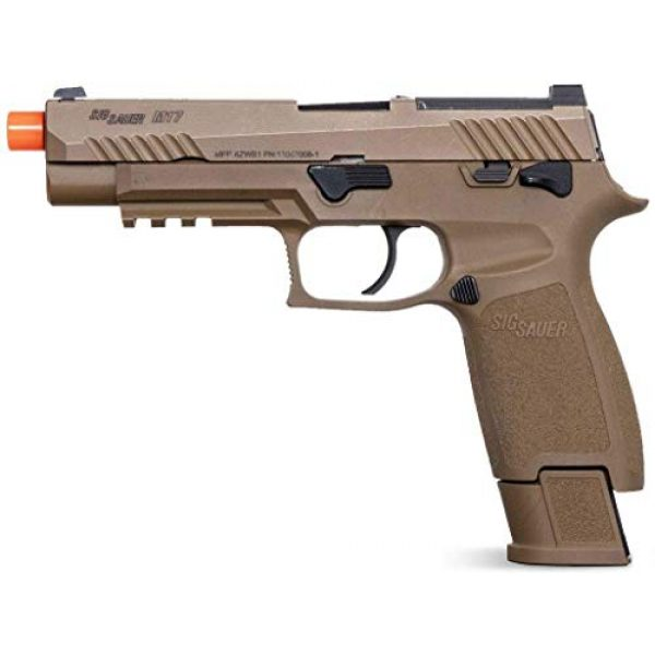 SIG Airsoft Air Pistol 3 Sig Sauer Pro Force M17 Airsoft Pistol with Included 5x12 Gram CO2 Tanks and Pack of 1000 6mm 0.20g BBS Bundle