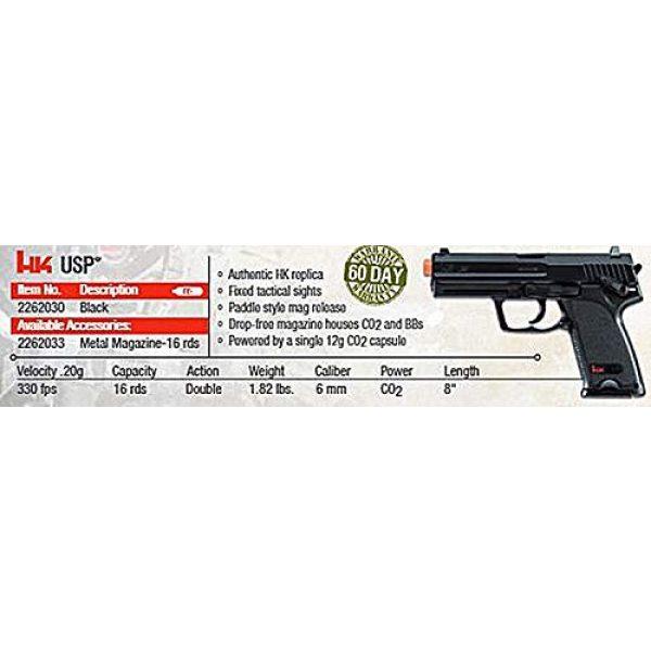 Elite Force Airsoft Pistol 5 HK Heckler & Koch USP 6mm BB Pistol Airsoft Gun, Standard Action, Black