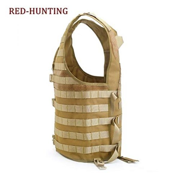 Shefure Airsoft Tactical Vest 7 Shefure Men's Molle Tactical Vest Hunting Gear Load Carrier Vest Sport Safety Vest Hunting Fishing with Hydration System