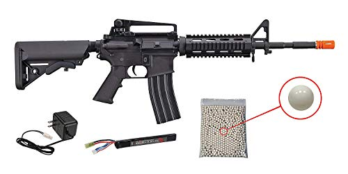 Wearable4U  1 Wearable4U Tippmann Adaptive Armament Airsoft Rifle with Included 11.1V LiPo 900 mAh Battery and Charger Pack of 1000 6mm 0.20g BBS Bundle