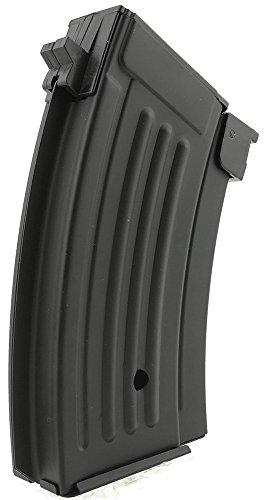 SportPro  5 SportPro 220 Round Metal Stubby High Capacity Magazine for AEG AK47 AK74 Airsoft - Black