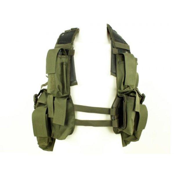 Mil-Tec Airsoft Tactical Vest 1 Mil-Tec Men's Tactical South African Assault Combat Cargo Army Vest Airsoft
