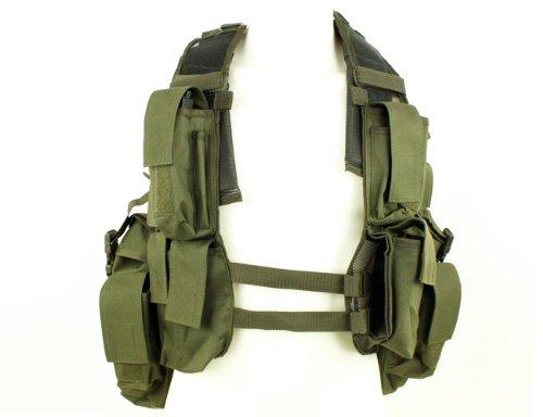 Mil-Tec  1 Mil-Tec Men's Tactical South African Assault Combat Cargo Army Vest Airsoft