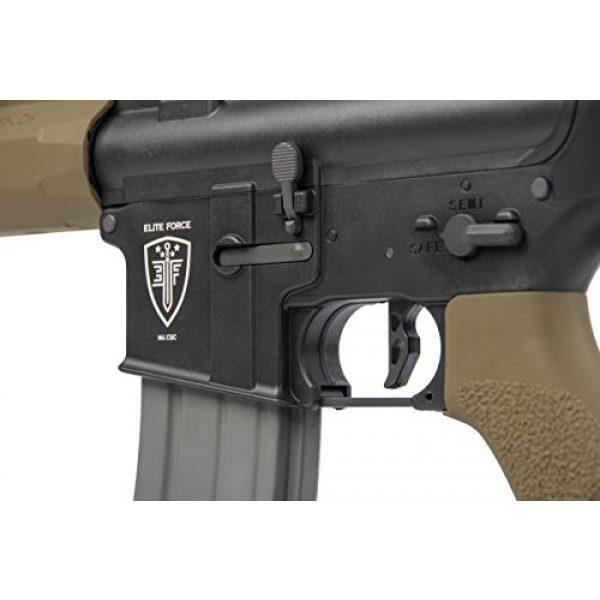 Elite Force Airsoft Rifle 3 Elite Force M4 AEG Automatic 6mm BB Rifle Airsoft Gun, CQC, Black/Tan (2279527)