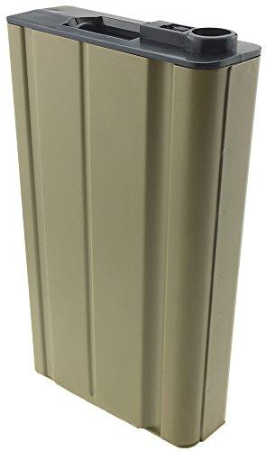 SportPro  3 SportPro 360 Round Metal High Capacity Magazine for AEG Scar-H Airsoft Tan
