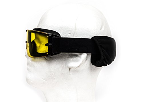 Lancer Tactical Airsoft Goggle 3 Lancer Tactical CA-234Y Airsoft Safety Goggles - Framless/Yellow Lens