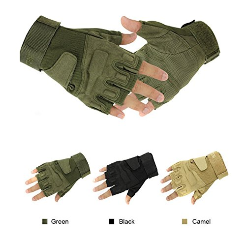 simpleyourstyle Airsoft Glove 1 simpleyourstyle 1pair Military Half-Finger Fingerless Tactical Airsoft Hunting Riding Cycling Gloves U Pick