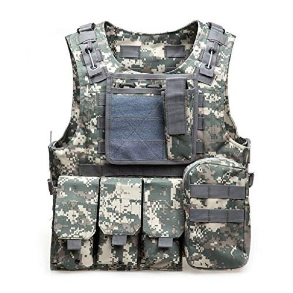 Shefure Airsoft Tactical Vest 2 Shefure Camouflage Tactical Amphibious Vest Military Army Combat Airsoft Paintball Sport Body Armor Molle Hunting Vest 8 Colors