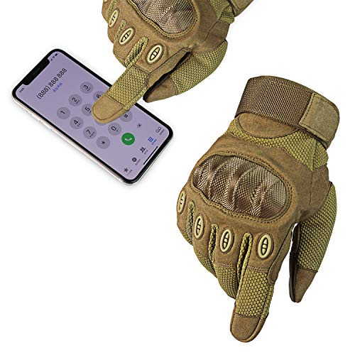 Fuyuanda Airsoft Glove 4 Touch Screen Full Finger Outdoor Gloves for Riding Motorcycle
