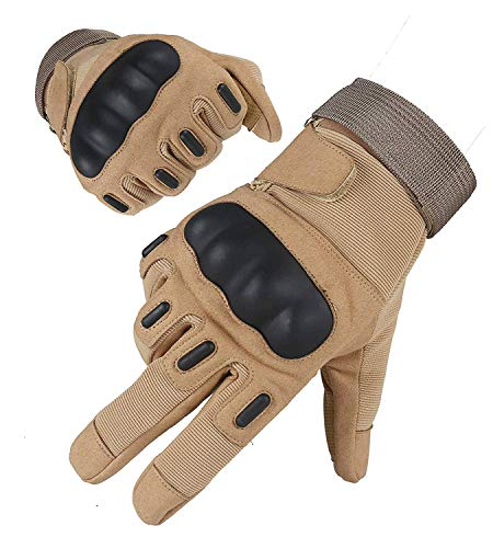 HIKEMAN Airsoft Glove 1 HIKEMAN Army Tactical Gloves Outdoor Full Finger and Half Finger Military Rubber Hard Knuckle Airsoft Paintball Gloves for Motorcycle Cycling Hunting Shooting Hiking Camping