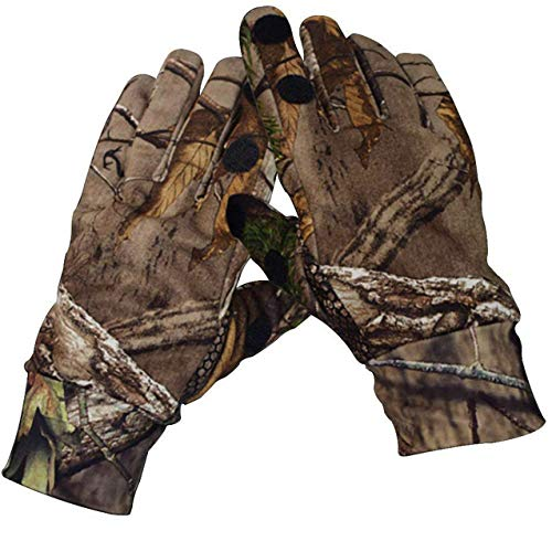 SHAWINGO Airsoft Glove 2 SHAWINGO Camouflage Hunting Gloves Cut Finger Camo Gloves for Archery Fishing Shooting