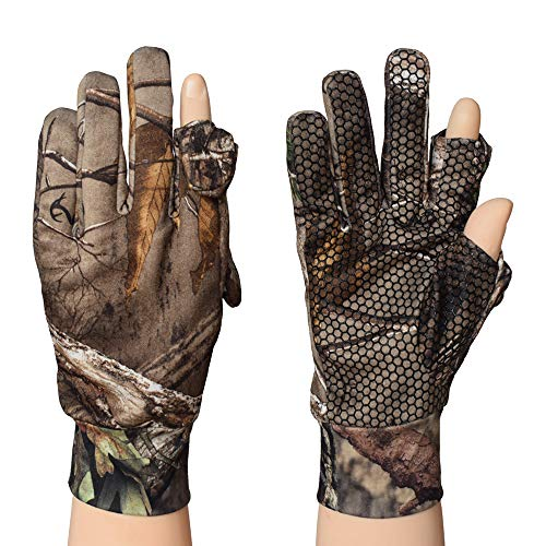 EAmber Airsoft Glove 2 Eamber Camouflage Hunting Gloves Full Finger/Fingerless Gloves Pro Anti-Slip Camo Realtree Glove Archery Accessories Hunting Outdoors (M) (L) (L)