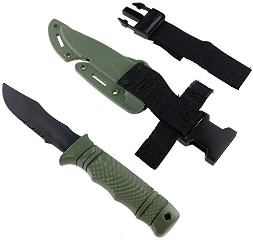 SportPro Airsoft Tool 7 SportPro Rubber Combat Knife M37 Style for Training Airsoft Olive Drab