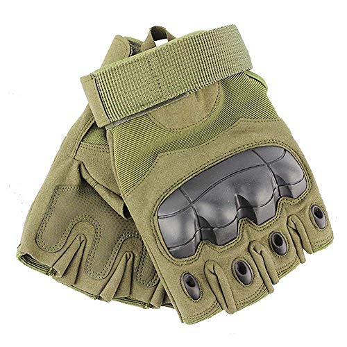 JZYML Airsoft Glove 1 JZYML Tactical Glove Hard Knuckle Fingerless Half Finger Outdoor Cycling Motorcycle Hiking Camping Driving Gloves Guante