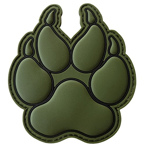 LEGEEON Airsoft Tactical Vest 1 LEGEEON Olive Drab OD K-9 Paw K9 Handler Dogs of War Morale Army Gear PVC Touch Fastener Patch