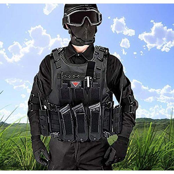 vAv YAKEDA Airsoft Tactical Vest 7 vAv YAKEDA Tactical Vest Military Chest Rig Airsoft Swat Vest for Men