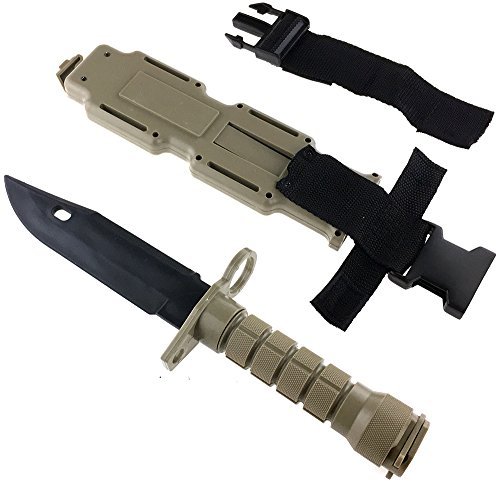 SportPro Airsoft Tool 7 SportPro Rubber Combat Knife M9 Style for Training Airsoft Dark Earth