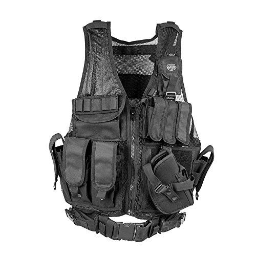 Valken Airsoft Tactical Vest 1 Valken Tactical Crossdraw Vest - Adult - Black