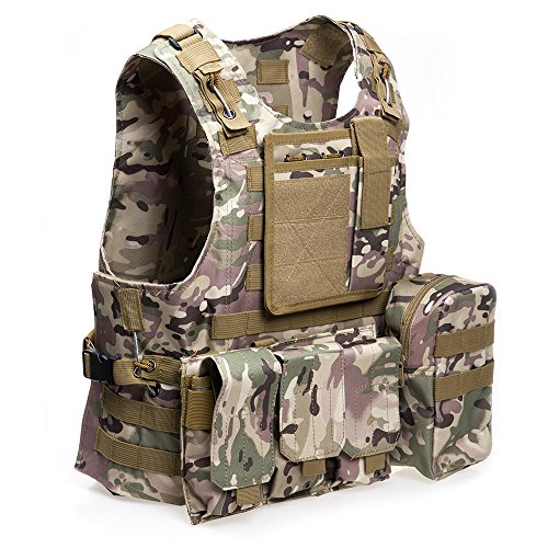 ATAIRSOFT Airsoft Tactical Vest 2 ATAIRSOFT Molle Tactical Airsoft Paintball Vest