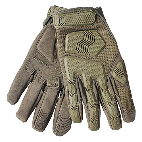 Fuyuanda Airsoft Glove 4 Rubber Protective Guard Full Finger Gloves for Outdoor Cycling Motorbike