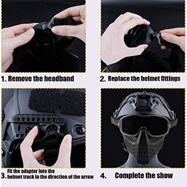 Aoutacc Airsoft Goggle 4 Aoutacc Airsoft Goggles Removable Face Mask