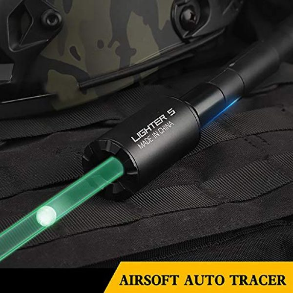 ActionUnion Airsoft Tool 3 ActionUnion Tactical Auto Airsoft Gun Pistol Mini Tracer Unit Lighter Light for 14mm CCW Thread Airsoft Guns M14 / 10MM CW Thread Pistol BBS Glow in Dark