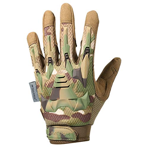 WTACTFUL Airsoft Glove 2 WTACTFUL Rubber Guard Protective Full Finger Tactical Gloves for Airsoft Hunting Cycling Motorbike