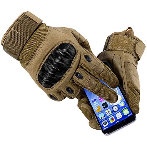 WTACTFUL Airsoft Glove 4 WTACTFUL Touch Screen Motorcycle Full Finger Gloves for Cycling Motorbike ATV Hunting Hiking Riding Climbing Operating Work Sports Gloves
