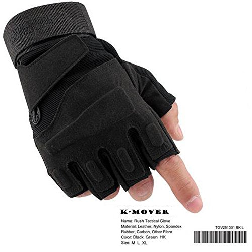 K-mover Airsoft Glove 2 K-mover Military Tactical Gloves Half Finger Cycling Gloves Fingerless Gloves for Airsoft Cycling Motorcycle Gloves