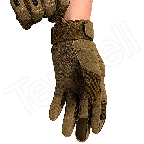 Tenwell Airsoft Glove 4 Tenwell Tactical Gloves Military Rubber Hard Knuckle Full Finger Outdoor Gloves for Men Fit for Cycling Motorcycle Camping Outdoor Sports
