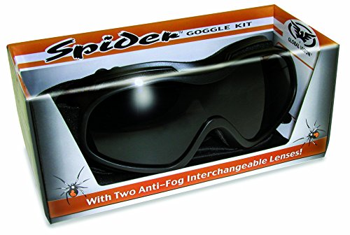 Global Vision Airsoft Goggle 1 Global Vision Spider Goggle Motorcycle Eyewear with Clear & Smoke Lens KIT
