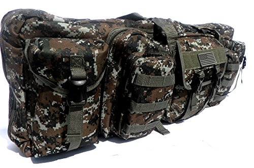 """East West U.S.A Airsoft Gun Case 2 East West U.S.A RTGC604 36"""" Double Tactical Molle Soft Padded Rifle Long Hunting Bag"""