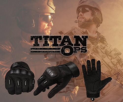 TitanOps Gear Airsoft Glove 5 TitanOPS Full Finger Hard Knuckle Motorcycle Military Tactical Combat Training Army Shooting Outdoor Gloves