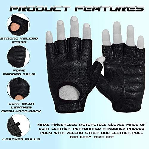 Max5 Airsoft Glove 2 Max5 Men's Fingerless Motorcycle Gloves