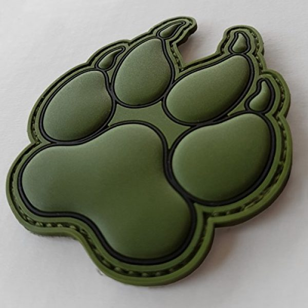 LEGEEON Airsoft Morale Patch 3 LEGEEON Olive Drab OD K-9 Paw K9 Handler Dogs of War Morale Army Gear PVC Touch Fastener Patch