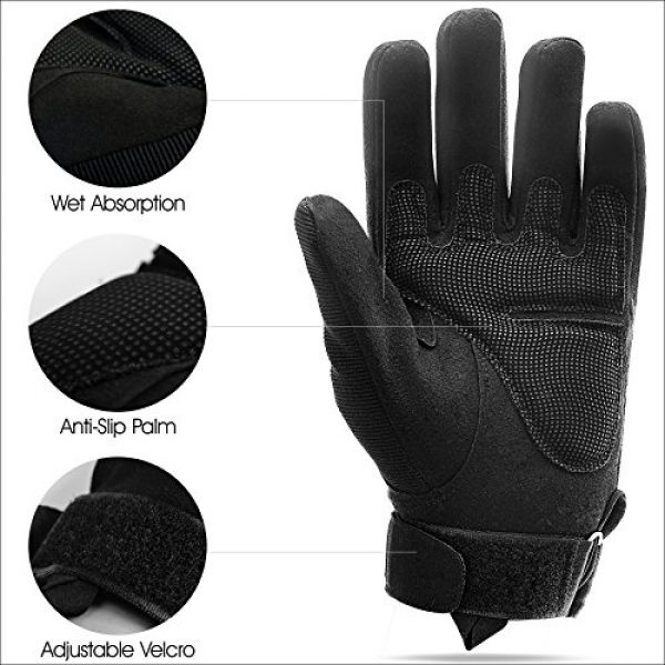 Military Army Combat Outdoor Full Finger Gloves fit for Airsoft Cycling Motorcycle Hiking Camping Powersports Paintball Shooting Work