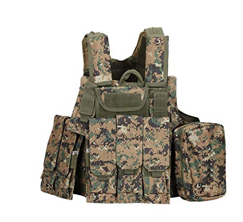 Fouos Airsoft Tactical Vest 2 Fouos Tactical Vest Military Molle Airsoft Paintball Vest for Men