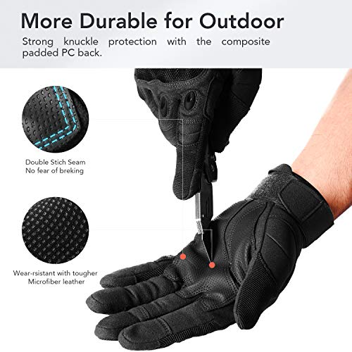 FREETOO Airsoft Glove 3 FREETOO Knuckle Tactical Gloves for Men Military Gloves for Shooting Airsoft Paintball Motorcycle Climbing and Heavy Duty Work