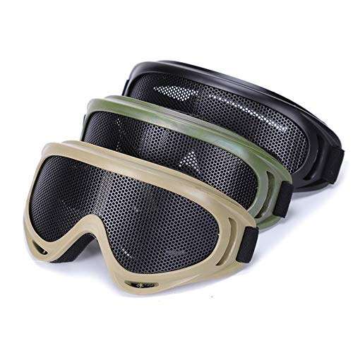 Sunny Airsoft Goggle 2 Outdoor Sports Airsoft Hunting Protention Gear Tactical Shooting X400 Metal Steel Wire Mesh Goggles