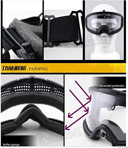 Gocher Airsoft Goggle 4 Tactical Goggle for CS Shooting Riding Cycling Paintball Basic Type Glasses Airsoft Goggles