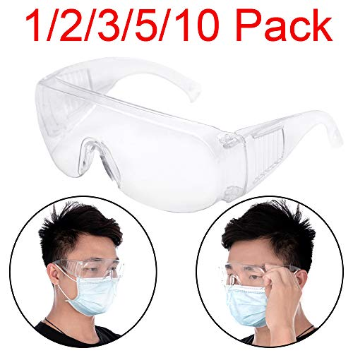 OMG_Shop Airsoft Goggle 1 Protective Safety Goggles Glasses Crystal Clear Eyewear Anti-Fog Glasses Eye Protection with Clear Vision