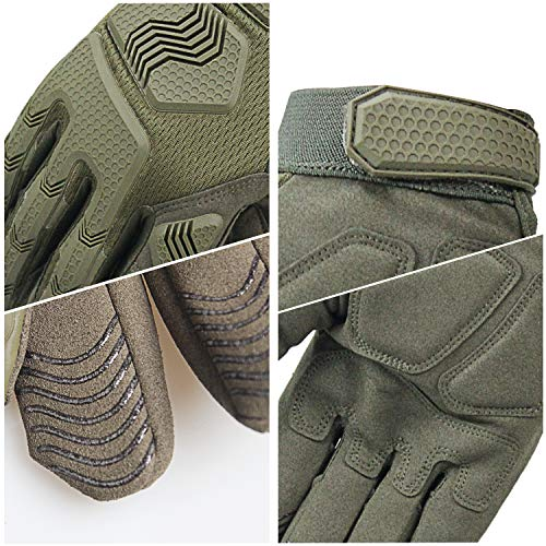 Fuyuanda Airsoft Glove 5 Rubber Protective Guard Full Finger Gloves for Outdoor Cycling Motorbike