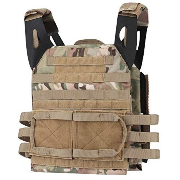 Tactical Area Airsoft Tactical Vest 1 Tactical JPC MOLLE Vest, Adult Tactical CS Field Vest Outdoor Training Airsoft Protective Vest