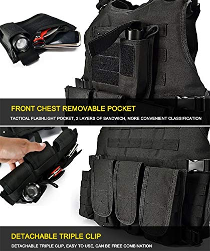 vAv YAKEDA Airsoft Tactical Vest 5 vAv YAKEDA Tactical Vest Military Chest Rig Airsoft Swat Vest for Men