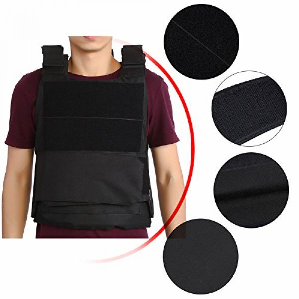 Vbestlife Airsoft Tactical Vest 3 Tactical CS Field Vest Outdoor Tactical Vest Hunting Security Guard Waistcoat CS Field Combat Training Protective Vest for Adult Airsoft Games Boys Costumes