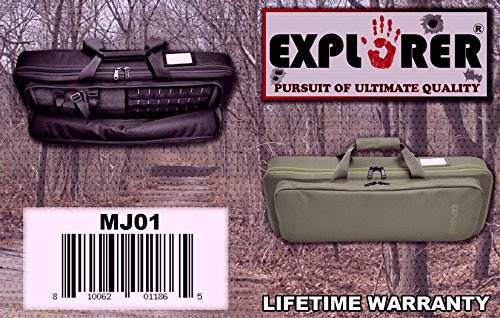 Explorer Airsoft Gun Case 2 Explorer Mojo Tactical Rifle Case AR15 Case with Pockets for Magazines