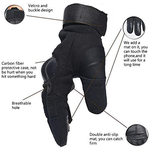 DKMOTORK Airsoft Glove 2 DKMOTORK 007 Airsoft Work Motorcycle Full Finger Gloves for Men Women Hunting Fishing Ski Winter Outdoor Sport Medium