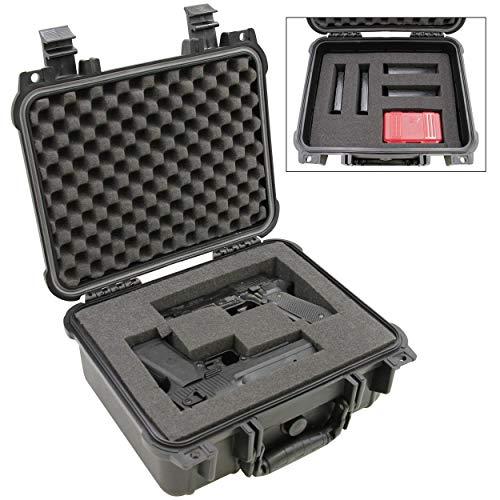 "CASEMATIX  1 CASEMATIX 13"" Two Gun Hard Case for 2 Handguns - Waterproof & Shockproof 2 Pistol Hard Case"