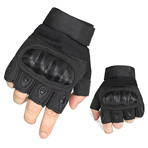 Fantastic Zone Airsoft Glove 2 Ventilate Wear-resistant Tactical Gloves Hard Knuckle and Foam Protection for Shooting Airsoft Hunting Cycling Motorcycle Gloves Men's Outdoor Half finger Full finger Gloves Black M/L/XL