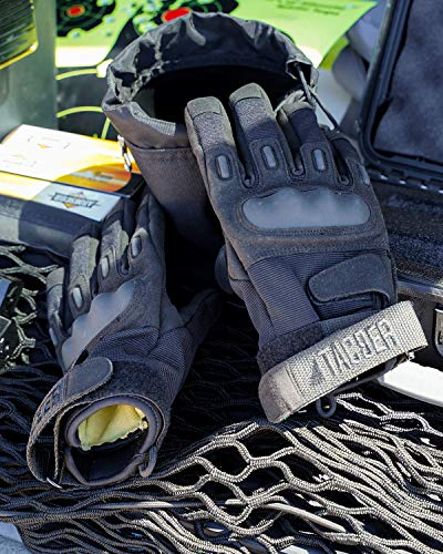 TAC9ER Airsoft Glove 6 TAC9ER Tactical Gloves with Kevlar - Hand Protection Airsoft Gloves Cut and Temperature Resistant with Touchscreen Finger